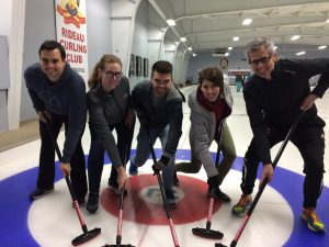 Photo of lawyers curling at the Africa Rocks Bonspiel