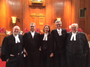 Ethan, Steven, Colleen & Peter at the SCC hearing with BCTF counsel, John Rogers