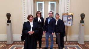 Lawyers at the Trinity Western hearing""