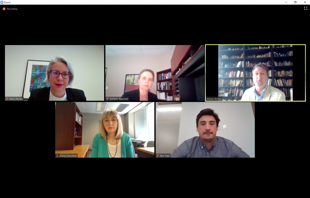 Zoom image of lawyers during the webinar